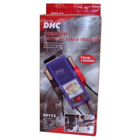 Akkumulátor teszter 6V - 12V indítóakkumulátorokhoz 100A DHC-50113