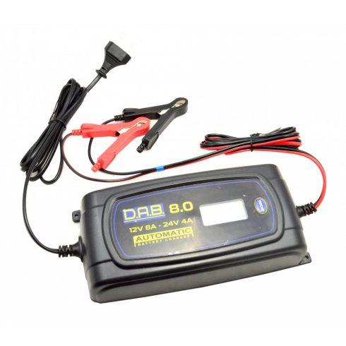 Autó és kisteherautó akkumulátor töltő 12V / 24V szulfátlanító funkcióval - DAB 8.0