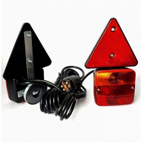 Trailer hátsó lámpa szett mágneses vezetékkel 7 p csatlakozóval