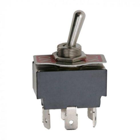 Kapcsoló karos 2 állású 2 áramkörös (választó kapcsoló) ON-ON panellel