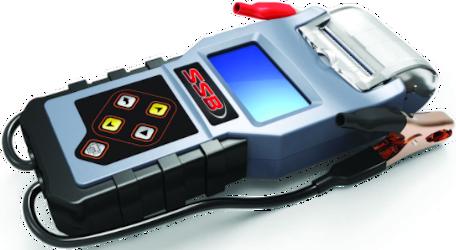 Digitális akkumulátor teszter nyomtatóval